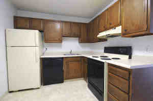 Picture of spacious kitchen, cabinets and appliances